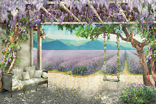 BEAUTIFUL LAVENDER FIELD CANVAS PICTURE #51 STUNNING LANDSCAPE HOME DECOR CANVAS