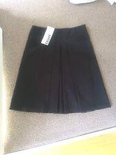 TABLE EIGHT 8 Womens Skirt 10 Black Pleated BNWT NEW Work Plain Classy Casual