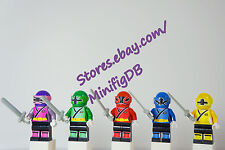 LEGO Custom minifig Power Ranger Samurai figures 5 colors