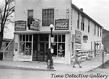 Soda Fountain / Drug Store, Ray, North Dakota -1937- Historic Photo Print