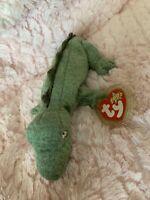 Ty Beanie Baby Swampy - MWMT (Alligator 1999)