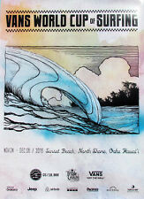 WSL Triple Crown 2016 World Cup Sunset Beach Hawaii Surfing Contest Poster