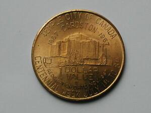 Cardston AB CANADA 1867-1967 Centennial Trade DOLLAR Token with Mormon Temple