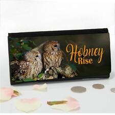 Personalised Tawny Owl Bird Wildlife Large Ladies Money Coin Purse Mum Gift SL83