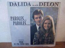 """SP 7"""" DALIDA DELON - Paroles...Paroles - VG/VG+ - OMEGA - OM 39.027-Y - BELGIUM"""
