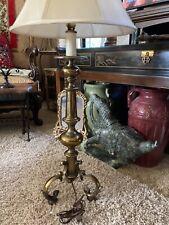 "Vtg Stiffel Brass Candlestick Table Lamp Mid Century Modern 1960s Large Tall 32"""