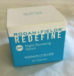 NEW Rodan + Fields Redefine Night Renewing Serum PM 60 Capsules