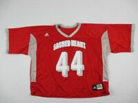 Sacred Heart Pioneers adidas Lacrosse Game Jersey Men's Red Used XLarge