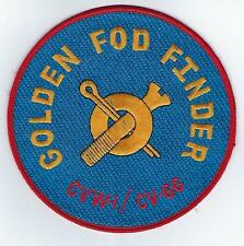 USS America CV66 Golden FOD Finder (US Navy Ship Patch) (from ship 1978)