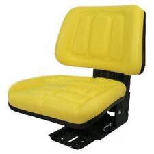 YELLOW FULLBACK TRACTOR SUSPENSION SEAT JOHN DEERE 1020, 1530, 2020, 2030 #VD