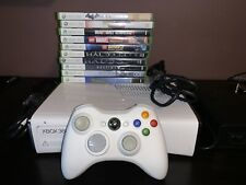 New listing Xbox 360-White Console-160 Gb Hard drive-Includes 10 games,Controller,and Wires