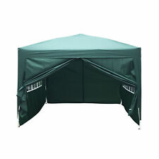 Pop Up Canopy Alumimum Commercial Outdoor Party Tent w/ 4 Sides Wall 10'x10'