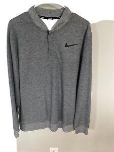 Nike Tiger Woods TW Collection 1/4 Zip Pullover Sweater Sweatshirt Mens Sz L