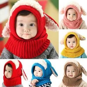 Toddler Kid Baby Boys Girl Easter Bunny Rabbit Ear Warm Winter Knit Beanie Hat.