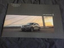 2018 Lincoln MKX Brochure Catalog Prospekt