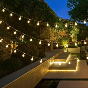 Outdoor Garden Lights - Globe String Lights, Plug in, 10m 100 LED Fairy Lights