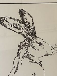 Paintings Sitting Hare Leaping Hare by Charlie Johnson