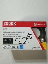 Set of 2: Utilitech Bronze LED Recessed Light Kit NEW