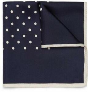 Kingsquare 100% Silk Polka Dot Pocket Square with Gift Box