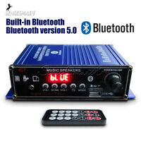 400W Digital Amplifier HIFI bluetooth5.0 Stereo Audio Music AMP FM Radio Mic Car