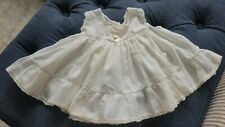 Vintage White Baby Girl Dress Size Newborn to 1 Year Sleeveless