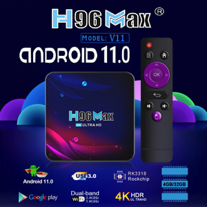 H96 MAX, V11, 32GB, Android Box, Android 11.0, Smart TV Box, Media Player. WiFi
