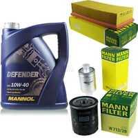 Motor-Öl 5L MANNOL Defender 10W-40 +MANN-FILTER Rover 400 Hatchback RT 416 Si