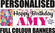 PERSONALISED PVC BIRTHDAY BANNER PHOTO 18TH 21ST 40TH 50THWEDDING ENGAGEMENT