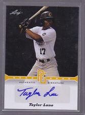 2013 Leaf Perfect Game Autographs Gold #TL2 Taylor Lane Auto 42/50