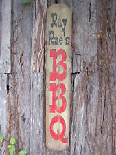 """RAY RAE'S BBQ Sign - Barbeque Sign - 33-3/4"""" x 5-7/16"""" x 9/16"""""""