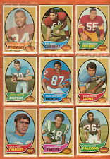 1970 Topps Football you pick commons 5 picks for $2.00  VG cond. and better