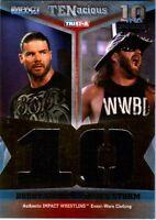 TNA Bobby Roode & James Storm 2012 TENacious GOLD Dual Relic Card SN 5 of 80