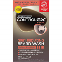 Just For Men Control GX Grey Reducing Beard Wash, Gradually Colors Mustache and