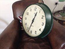 """Huge 1930's Gents Industrial clock. Spratt's advertising connection. 18"""" dial."""