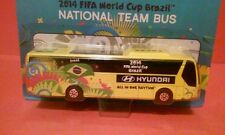 BRAZIL SOCCER NATIONAL TEAM BUS HYUNDAI MAISTO FIFA WORLD CUP BRASIL 2014 TOY 5""