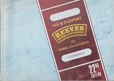 """REEVES 3.5"""" 5"""" 7.25"""" GAUGE 1 LIVE MODEL STEAM ENGINEERING 1989 PRODUCT CATALOGUE"""