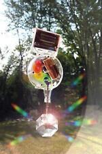 Kikkerland Window-Mount Solar-Powered Single Crystal or Heart Rainbow Maker 1588