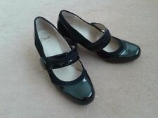 Patent Leather Mary Jane Cuban Heels for Women