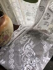 """Charming lovebirds vignette Valance panel cotton lace cafe curtain 35"""" per Metre"""