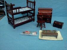 Vintage 1970's Sears Doll House Child s  Bedroom Set NEW IN BOX Miniatures 1:12