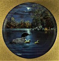 Peaceful Waters~Night Songs The Loon~Jim Hansel Bradford Exchange Plate