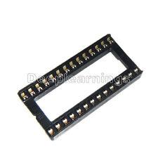 10PCS 28PIN 28 PIN DIP IC Socket Adaptor Solder WIDE Type Socket Pitch Dual Wipe