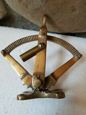 Antique Solid Brass Marine Engine Throttle Control Boat Unknown Maker