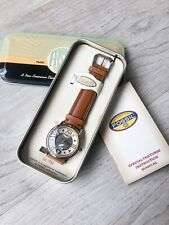 Fossil Steampunk Quartz Analog Brown Leather Industrial Watch NEW In Tin!!