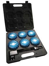 Malette de 6 Balises à leds rechargeable LEDWarning Bleue