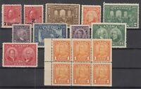 Y4624/ CANADA – 1917 / 1928 MINT SEMI MODERN LOT – CV 260 $