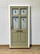 TIMBER WINDOWS HANDMADE/BESPOKE FRONT DOOR-EXTERIOR-STAINED GLASS-1930S-REPLICA