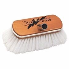 Star Brite Premium Deluxe Wooden Block Scrub Brush White Bumper 040172 MD