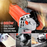 880W 100MM/105MM Electric Angle Grinder Corded Heavy Duty Grinding Cutting 240V