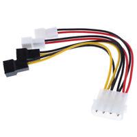 1x 12V Lüfter Stromkabel, 4 Pol Zu 4x 3 Pol Adapter Für SATA